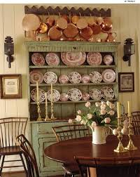 shabby chic hutch with copper pans u0026 china collection pictures