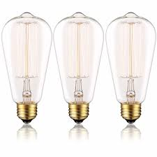 edison bulb st64 60w dimmable clear glass old fashioned light