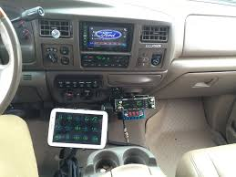 Ford Diesel Truck Parts - uniden cobra cb dash mounted in a ford excursion citizens band
