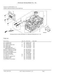american honda motor co inc gcv160lao n5mf