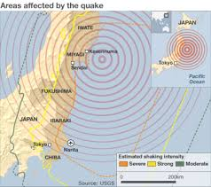 Fukushima Fallout Map by Quake Was Big Even For Japan Bbc News