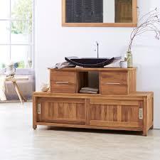 meubles en teck massif meuble en teck neela u2013 meuble rangement salle de bainsur tikamoon