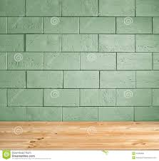 white painted brick wall vintage wooden floor interior background