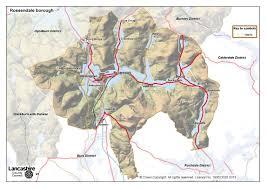 Lancashire England Map by Rossendale District Lancashire County Council
