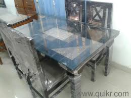 Glass Top  Seater Dining Table Almost Home Office Furniture - Glass top dining table hyderabad