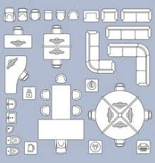 office floor plan symbols furniture linear symbols floor plan icons vector image