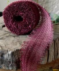 burgundy wired ribbon or burgundy wired burlap ribbon 2 5 burlap by the yard