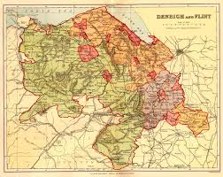 Map Of England And Wales Gazetteer Of England And Wales 1894 5 Flintshire