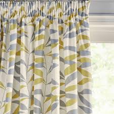 Citrine Curtains Buy John Lewis Lina Leaf Thermal Lined Pencil Pleat Curtains