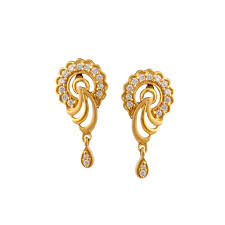 stylish gold earrings gold jewellery manufacturer from navsari