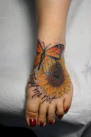 sunflower memorial tattoos jeff norton butterfly sunflower