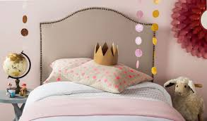 Kids Fabric Headboard by Connie Taupe Headboard Brass Nail Head Headboards Furniture By