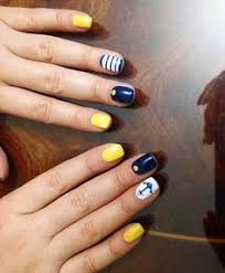 navy blue yellow and white nails pinterest blue yellow