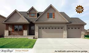 craftsman home plan cedar glen ii 42229 craftsman home plan at design basics