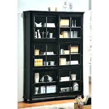 Small Bookcases With Glass Doors Bookcase With Doors Uk Modern Walnut Narrow Bookcase With