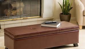 bench gratifying dark brown ottoman storage bench lovable