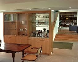 dining room wall cabinets giving accent to the with tall display