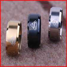 thumb rings for men fashion titanium superman logo finger ring rings