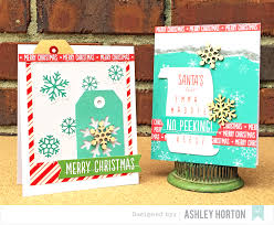 american crafts studio blog christmas cards by ashley horton