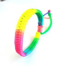 thread cord bracelet images 10pcs rainbow handmade woven thread macrame cord bracelet jpg