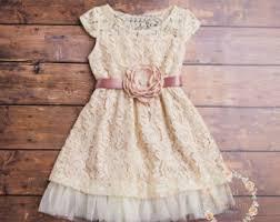 flower dress lace dress country lace dress ivory