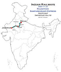 Marta Route Map by Rajasthan Sampark Kranti Express Wikipedia