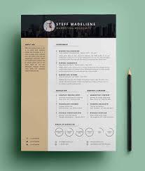 free modern resume templates psd resume template design free 15 elegant modern cv templates psd