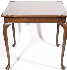 cherry queen anne style game table by hickory chair company ebth