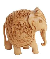 crafts gallery wooden elephant statue animal carving sculpture