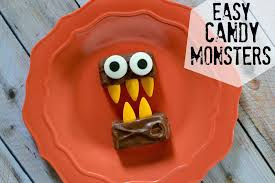 easy halloween appetizers recipes easy candy monsters the easiest halloween recipe ever