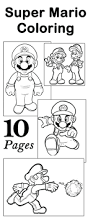 coloring pages mario print printable mario brothers birthday