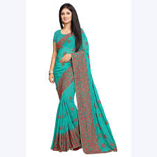 sari mariage indian saree wedding wear georgette blouse fabric