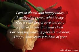 Words For Anniversary Cards Anniversary Messages For Parents