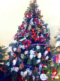 Red Gold And Purple Christmas Tree - lighted christmas bow great christmas tree decorated with bow