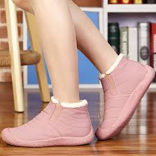 Warm Comfortable Boots Large Size Comfortable Slip On Warm Fur Lining Ankle Boots Us 34 29