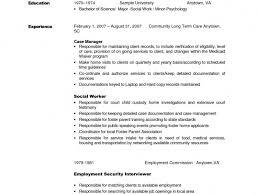 Detailed Resume Examples Social Work Resume Examples Haadyaooverbayresort Com