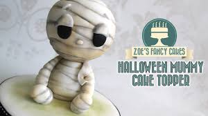 halloween mummy cake topper model youtube