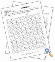 multi operation math maze worksheetworks com