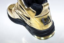 la light up shoes light it up l a gear teams up with tyga for the liquid gold
