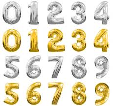 balloon decorations mylar number letter 40 inch gold silver number balloons number 1 9 balloon gold silver