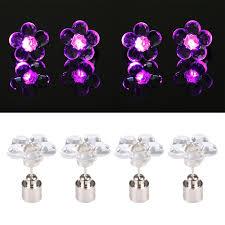 light up earring studs 4 pcs fashion plum blossom led earrings glowing light up earring