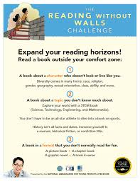 the reading without walls challenge children s book council