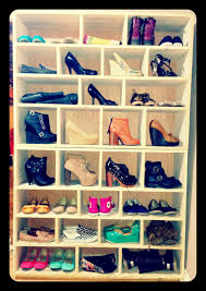 homemade shoe rack display you can see all your shoes for