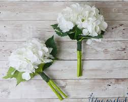 white hydrangea bouquet hydrangea bouquet etsy