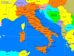 Map Of Rome Italy by Italy Political Map A Learning Family
