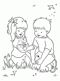 happy spring day for kids coloring page for kids seasons coloring