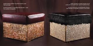 Poufs Ottoman Furniture Luxury Pouf Ottoman With Leather Top For Home Furniture