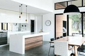 cuisine sol gris cuisine bois et blanc idées pour la maison