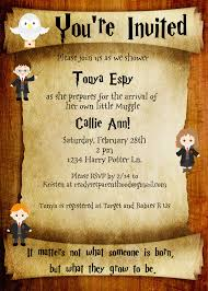 harry potter baby shower invitations harry potter baby shower