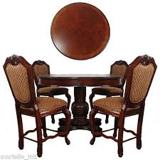 Dining Table Set Of 4 Dining Table Set Pedestal Table 4 Chairs Counter Height Gold